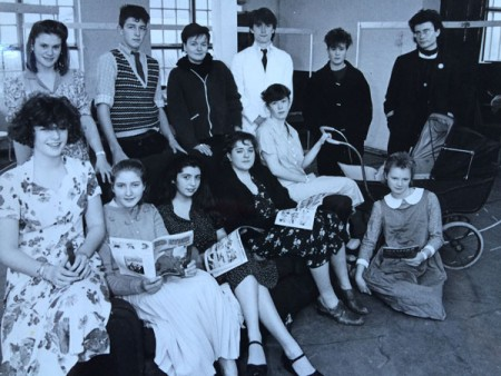 with Farnham Youth Theatre, about 1988. (I'm centre back). The production was Stephen Lowe's Touched.
